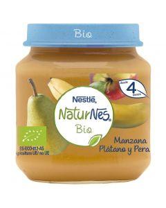Tarrito bio manzana plátano pera naturnes 120g