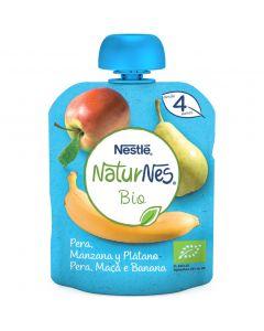 Pouch bio de plátano, manzana y pera naturnes nestlé 90g