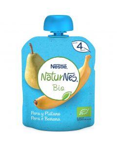Pouch bio de pera y plátano naturnes nestlé 90g