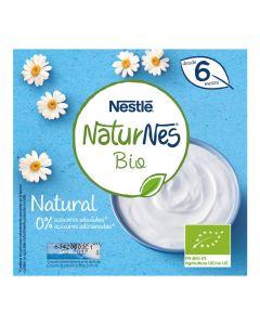 Postre lácteo bio natural naturnes nestlé pack de 4 unidades de 90g