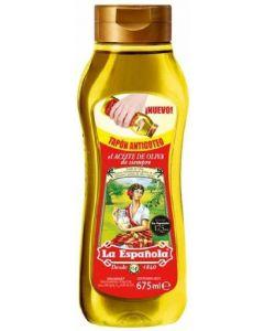 Aceite de   oliva suave la española con valvula antigoteo 675 ml