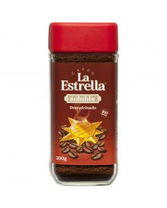 Café soluble descafeinado la estrella 200g