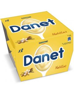 Natillas de vainilla danet pack de 8 unidades de 125g