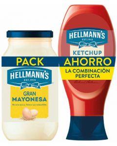 Pack mayonesa 450ml+ketchup 486ml hellmans