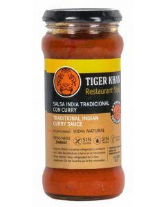Salsa curry tiger khan tarro 340ml