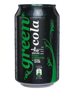 Refresco de cola green cola lata 33cl