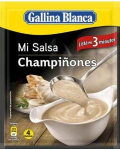 Salsa champiñones gallina blanca 24g