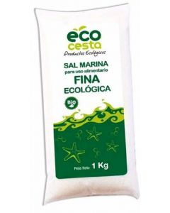 Sal marina fina ecocesta 1k