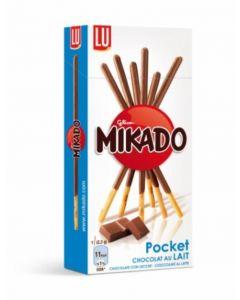 Palitos bañados chocolate con leche mikado 39g