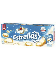 Galleta estrella principe chocolate blanco lu 225g
