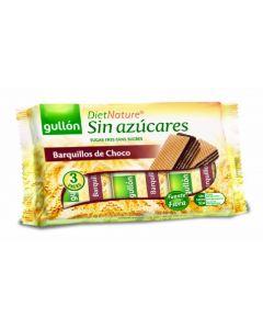Barquillo s/azucar chocolate  negro gullon 210 gr