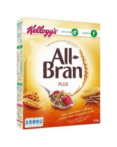 Cereales plus all bran flakes kelloggs 375g