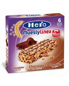 Barritas de muesly con chocolate hero un paquete de 6 unidades de 20gr