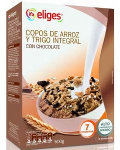 Copos de arroz y trigo con chocolate ifa eliges 500g