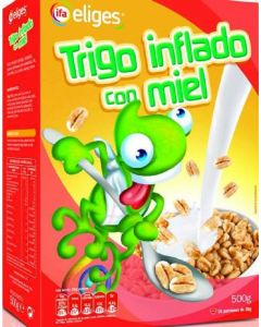 Cereales de trigo inflado con miel ifa eliges 500g