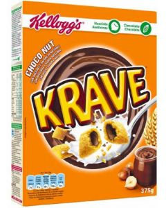Cereales krave choco y avell. kelloggs 375g