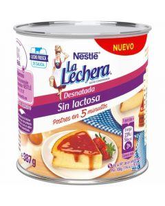 Leche condesada desnatada sin lactosa la lechera 387gr
