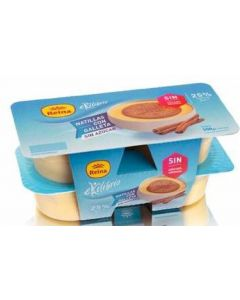 Natillas con galleta sin azúcar reina pack de 4 unidades de 125g