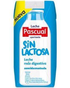 Leche sin lactosa semidesnatada pascual p3x200ml