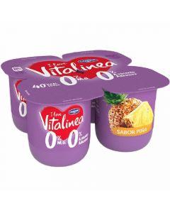Yogur piña vitalinea p-4x125g