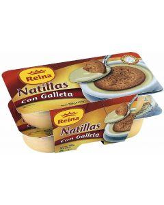 Natillas con galleta reina pack de 4 unidades de 125g