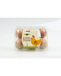 Huevos frescos clase l  mas  6ud