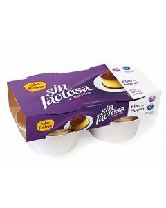 Flan de huevo sin lactosa reina pack de 4 unidades de 100g