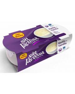 Natillas sin lactosa vainilla reina pack de 2 unidades de 125g