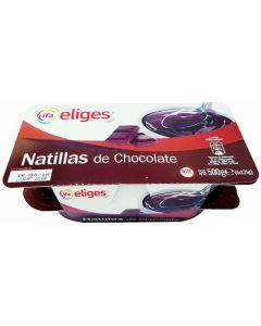 Natillas de chocolate ifa eliges pack de 4 unidades de 125g