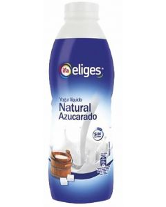Yogur liquido natural azucarado ifa eliges 750ml