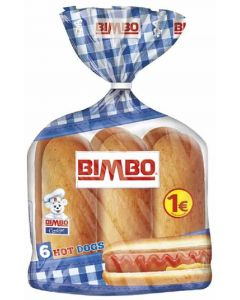 Pan bocata hot dog bimbo  p6x55g