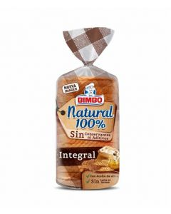 Pan de molde natural 100% integral bimbo 450g
