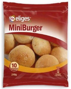 Pan mini hamburguesa  ifa eliges  p10x24g