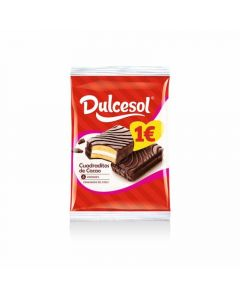 Cuadraditos  chocolate dulcesol  p6x260g