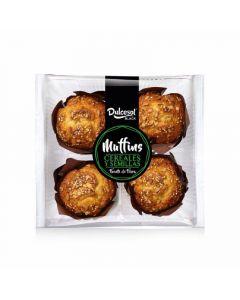 Muffins de cereales y semilla dulcesol p-4x 75gr