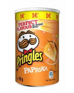 Patatas paprika pringles lata 70gr