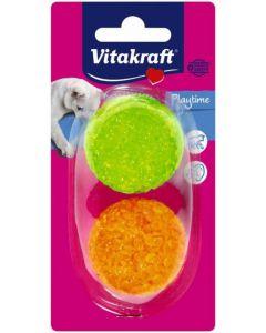 Juguete para gatos bolas vitakraft pack de 2 unidades