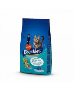 Comida seca para gatos mix con pescado brekkies 1,5kg
