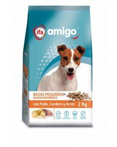 Comida seca para perros razas pequeñas pollo ifa amigo 2kg