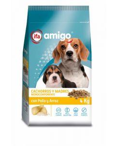 Comida perro cachorros pollo ifa amigo 4k