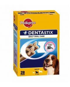 Snack para perros medianos dentastix pedigree 28 unidades