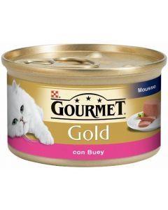 Comida húmeda para gatos buey gourmet gold 85g