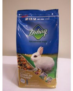 Comida conejo enanos dibaq 1k