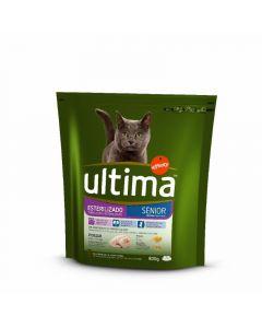 Comida seca para gatos estirilizado senior ultima 800g