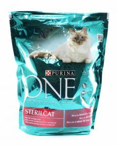 Comida seca para gatos estirilizado salmón one 1,5kg