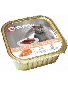 Comida húmeda para gatos con salmón ifa amigo 300g
