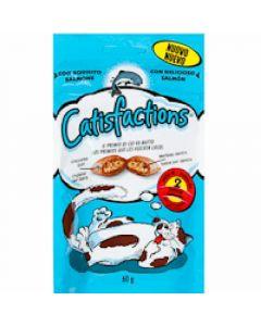 Snack para gato con salmón catisfactions 60g