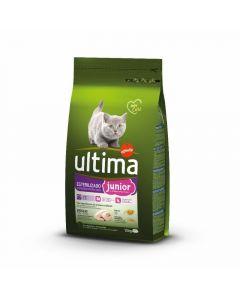 Comida seca para gatos estirilizado junior ultima 1,5k