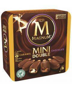 Helado magnum mini doble de chocolate/caramelo frigo p6x60ml