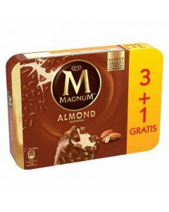 Helado magnum almendras frigo p-3+1 440ml